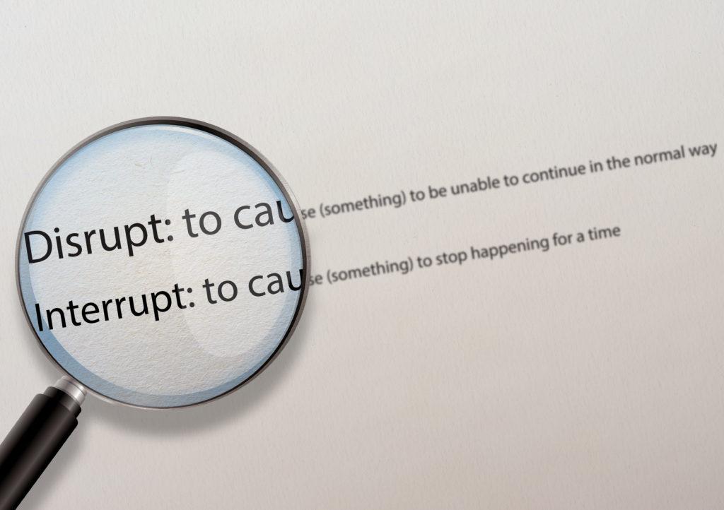 Disruption-without-interuption